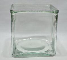 Vintage Square Glass Container Vintage by grannysbackporchvint