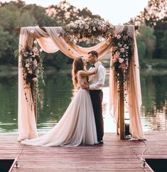 ☆Love This Floral Wedding Arch Decoration Ideas For The Rustic Wedding