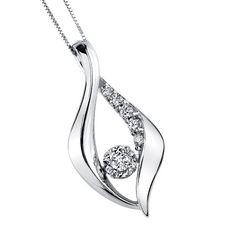 Sirena® Diamond Fashion Pendant in White Gold, 1/4 ctw $799.99