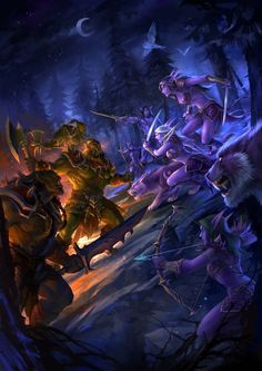 Daily World of Warcraft Art Board ^^ // Blizzard // wow // Horde vs Allliance Night Elves and Orcs Hearthstone // Geek Warcraft Orc, World Of Warcraft Game, Dark Fantasy Art, Fantasy World, Deviantart, World Of Warcraft Wallpaper, War Craft, Elfa, Night Elf