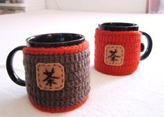 Brown Crochet Cup Cozy Tea Mug Sleeve  Ready to by OurSunshine, $16.99