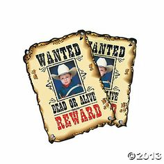 Wanted Dead Or Alive Western Photo Cards