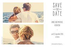 Save-the-Date Du & ich lang weiß
