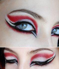 56 Ideen für Nägel Rotgold White Eye Make-up Gothic Makeup, Fantasy Makeup, Makeup Inspo, Makeup Art, Makeup Inspiration, Makeup Ideas, Mask Makeup, Makeup Tips, Ninja Makeup