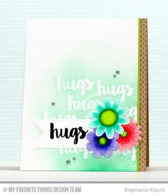Handmade card from Stephanie Klauck featuring the Sensational Stitched Flowers Card Kit #mftstamps