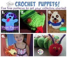 Five Free Puppet Crochet Patterns