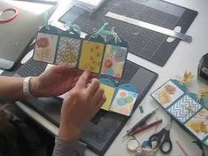 cardmaking video: Easy Scalloped Tag Concertina Card ... clever fun fold ... like it! ... Stampin'Up!