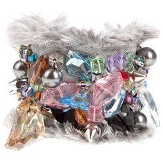 Fashion Jewellery (GILES BRACELET GREY FABRIC)
