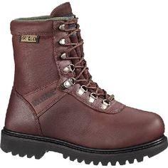 "W03825 Wolverine Men's 8"" Big Horn Safety Boots - Brown"