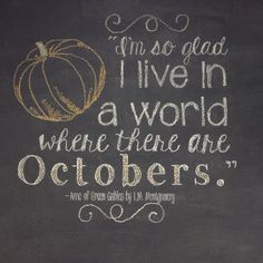 October Chalkboard Wall