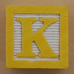 Educational Brick Letter K Cool Lettering, Block Lettering, Lettering Design, Sri Ram Photos, Letter K, Letter Blocks, Name In Different Fonts, Happy Sunshine, Yellow Cottage