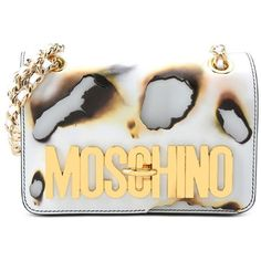 Moschino Shoulder Bag ($1,065) ❤ liked on Polyvore featuring bags, handbags, shoulder bags, white, metallic shoulder bag, moschino, white handbags, shoulder hand bags and shoulder bag purse