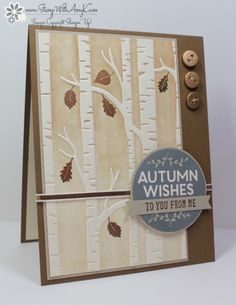 Stampin' Up! 'Among the Branches' and 'Woodland' TIEF and  - Stamp With Amy K