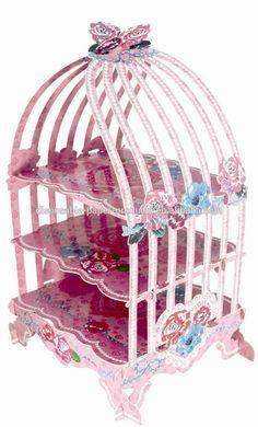 Jaula de pájaro taza de soporte de la torta de pastelería vintage wedding party wedding, surgarcraft, decoracion pasteles jaula cartón magdalena torta