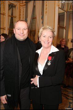 Elise ucet et son mari Martin Bourgeois, décédé en 2011 - Cérémonie de remise des insignes de Chevalier dans l'Ordre National de la Légion d'honneur en 2008.