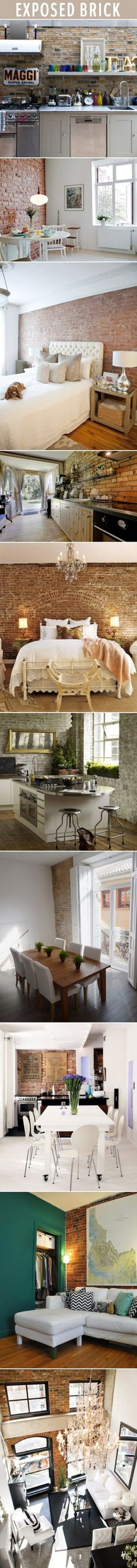Exposed brick interior @ Home Design Pins