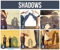 Pomysły na fajne zdjęcia z udziałem Waszych...cieni! Mega romantyczne!