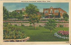 Vintage New Milling Sanatorium Mineral Wells Texas TX Postcard | eBay