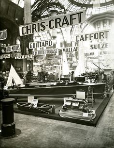 Salon Montique ::1929 Paris Boat Show The Mariners Museum Image Collection