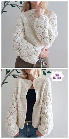 Crochet Women Cardigan Figs Free Crochet Pattern - Video - Ideas to Try # . - Crochet Women Cardigan Figs Free Crochet Pattern – Video – Ideas to try - Gilet Crochet, Crochet Cardigan Pattern, Crochet Jacket, Sweater Cardigan, Bolero Pattern, Chunky Cardigan, Crochet Blouse, Cardigan Fashion, Jacket Pattern
