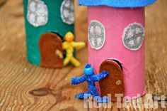 Toilet Roll Fairy House Craft - Red Ted Art - Make crafting with kids easy & fun Easy Crafts For Kids, Summer Crafts, Toddler Crafts, Diy For Kids, Craft Kids, Fairy House Crafts, Fairy Houses, Indoor Crafts, Preschool Art Activities