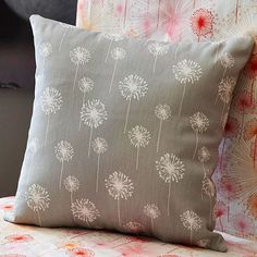 Oh, Sew Simple. This isn't embroidery, but I like the idea of using a solid fabric and creating this pattern.