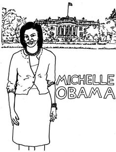 michelle obama coloring pages - michelle obama coloring pages az sketch coloring page