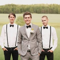 A break down of the groom's and groomsmen attire for the wedding day, including the types of suit and tuxedo jackets, lapels, ties & vests.