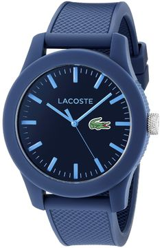 New Lacoste Men's 2010765 Blue Resin Watch Textured Silicone Band online - Proalloffer Sport Watches, Cool Watches, Men's Watches, Jewelry Watches, Wrist Watches, Analog Watches, Trendy Watches, Unique Watches, Affordable Watches