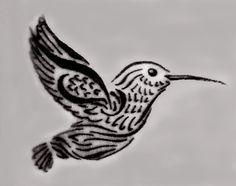 Hummingbird with NEDA symbol in wing <3