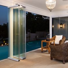 Frameless Glass Doors, Patio Doors, Security Shutters - Sunflex