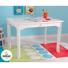 Brighton Kids Activity Table in White Finish