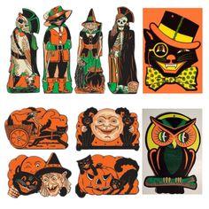 """Vintage Beistle Halloween Decorations"" by label-maker"