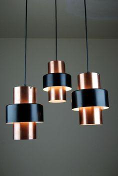 Vintage Danish 3 Light Chandelier Mid Century Lyfa Fog Morup Jo Hammerborg 60s in Antiques, Periods/Styles, Modernist | eBay