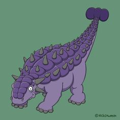 Armoured giant of the Mesozoic - my cartoon Ankylosaurus!