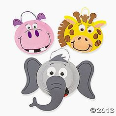 Paper Plate Zoo Animal Craft Kit...could easily have directions on tables for kids to do themselves :)