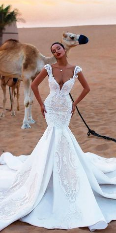 36 Lace Wedding Dresses That You Will Absolutely Love ❤️ See more: http://www.weddingforward.com/lace-wedding-dresses/ #wedding #bride #bridalgown