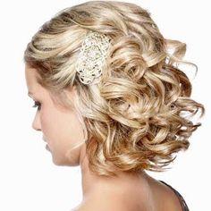 Corte e penteado para cabelo cacheado curto! Cabelos curtos e cacheados, cabelos ondulados e cabelos crespos.  Penteados em cabelos cacheados!