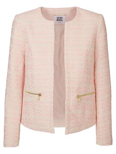 Classic and elegant blazer in powdery pink from VERO MODA. Pink Jacket, Blazer Jacket, Blazers For Women, Jackets For Women, Blazer Fashion, Fashion Outfits, Church Suits And Hats, Boucle Jacket, Plus Size Womens Clothing