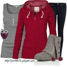 """""""Cranberry Owl"""" by jewhite76 on Polyvore"""