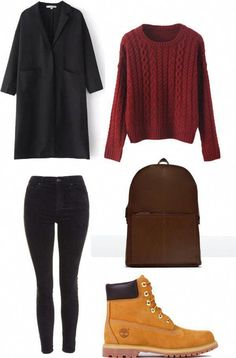 Outfits Mode für Frauen 2019 - Pair your Timberland boots with a knit top and your favorite black jeans - Women Spring/Summer Fashion - 2019 Timberland Boots How To Wear, How To Wear Timberlands, Timberland Boots Outfit, Timberland Outfits Women, Tims Outfits, Cute Outfits, Grunge Outfits, Winter Fashion Outfits, Casual Fall Outfits