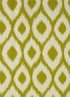 Bella Dura Ikat Green, for the window seating at Papaya Villa