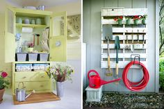40 BRILLIANT DIY ORGANIZATION HACKS -  How's that spring cleaning going? Avoiding it in favor of two back-to-back brunches? Sounds familiar. But here's the thing, you might already have the things you need to start getting organized. Here are 40 brilliant ways to repurpose, sort, store, and tidy, all in the name of organization. Have fun!