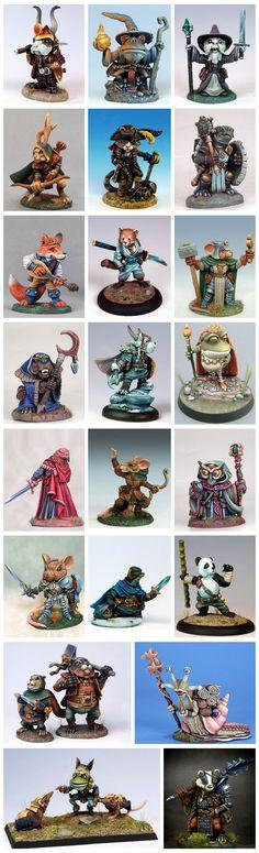 Critter Kingdoms: Anthro Animals Miniatures Line Expansion by Dark Sword…