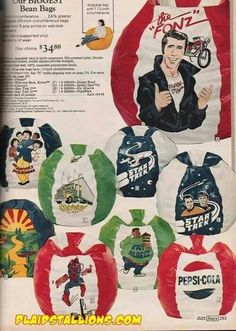 Character Beanbag Chairs - Sears Catalog I had the We;come Back Kotter one! Classic Tv, Classic House, Vintage Advertisements, Vintage Ads, Bean Bag Design, New Jack Swing, My Childhood Memories, Retro Toys, Tv Commercials