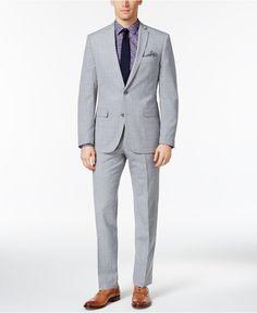 Bar III Men's Light Gray Slim Fit Suit Separates, Only at Macy's - Suits & Suit Separates - Men - Macy's