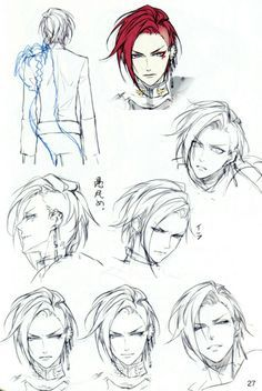 Trendy ideas for drawing tutorial cartoon characters hair reference Manga Tutorial, Anatomy Tutorial, Sketches Tutorial, Art Anime, Anime Kunst, Manga Anime, Hair Reference, Drawing Reference, Character Design References