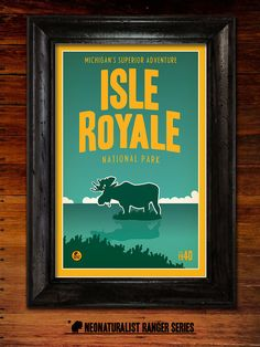 Isle Royale National Park Poster by RangerSeries on Etsy