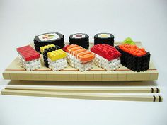 Sushi Legos .. more appetizing than the real thing, and I still wouldn't eat it. More for You!