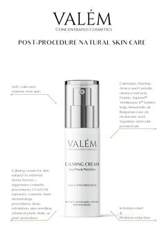 Calming cream for skin subject to external stress factors – aggressive cosmetic procedures, UVA/UVB exposure, cosmetic laser dermatology procedures, deep exfoliation, skin needling, chemical peels. Daily, or post-procedure. This concentrated formula contains Calendula, Rosehip, Arnica and Centella asiatica extracts, Elastin, Aquaxyl™, Antilikeune 6™ (Golden Kelp - Brown seaweed), Immortelle oil, Bulgarian rose oil, Hyaluronic acid, Squalane and cold-pressed oils.